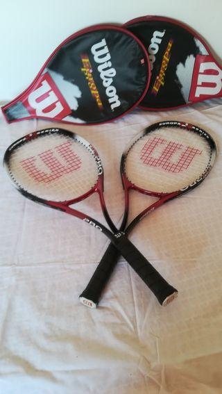 Raquetas tenis Wilson con funda