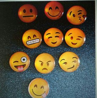 Imán nevera emoji emoticono cabochon cristal