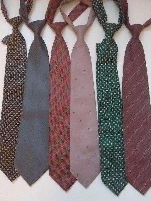Lote de seis corbatas seda