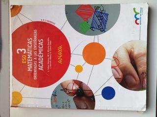 Libro ESO 3 Matematicas Academicas