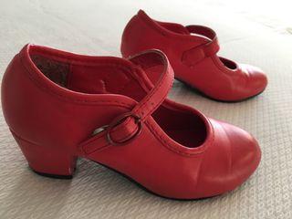 Zapatos flamenco niña talla 28