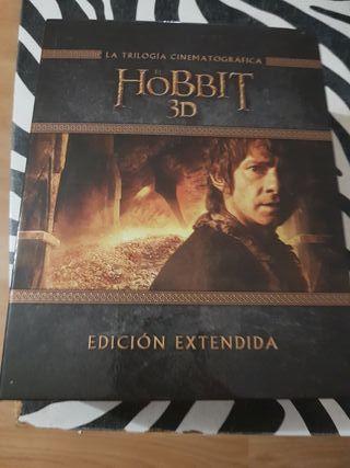 trilogia el hobbit ext en 3d y blu-ray