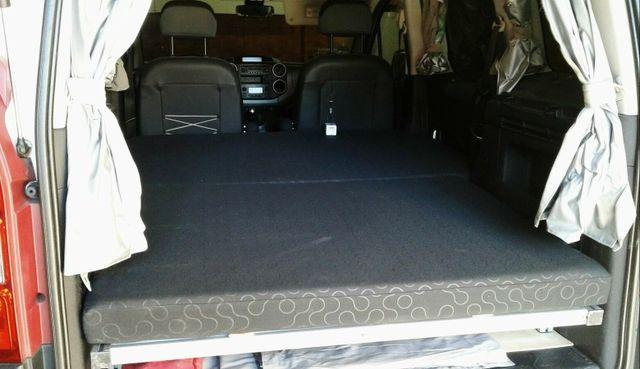 Cama para furgoneta camper berlingo y partner