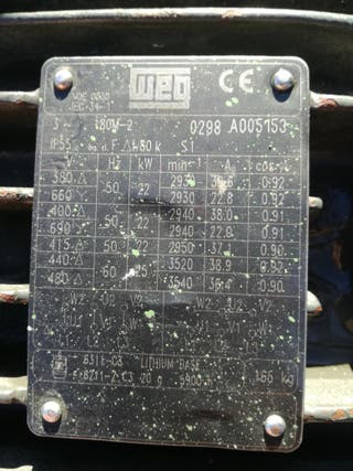 motor electrico trifasico 22kw 30cv