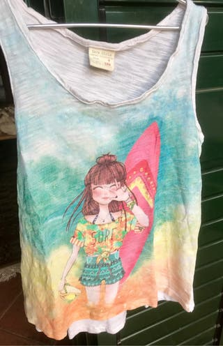 Camiseta tirante surfera Zara