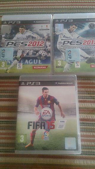 Pes 2012 + Pes 2013 + Fifa 15