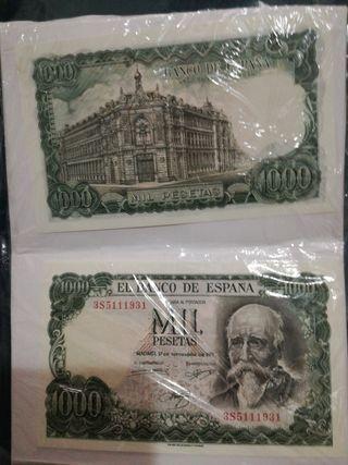 billete de 1000 pestetas