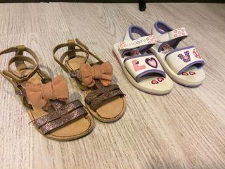 Lote sandalias niña 27 Zara y Gioseppo