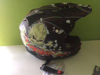 Casco motocross talla l