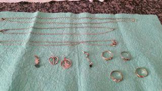 Cadenas,colgantes y anillos de plata