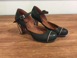 Zapatos Vintage Color Verde Talla 38 Nuevos