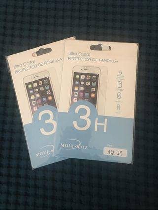 2 protectores pantalla bq x5