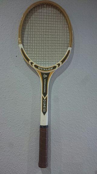 Raqueta tenis Dunlop vintage