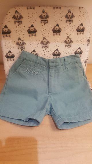 pantalon nicoli verde agua talla 3 niño