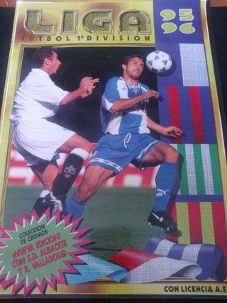 Album Cromos Futbol Liga 1a. División 1995-1996