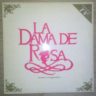 Disco vinilo Lp telenovela La dama de rosa. Varios