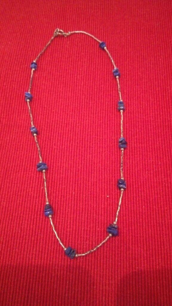 19320e0f Colgante bisuteria plata y piedras azules de segunda mano por 5 € en ...