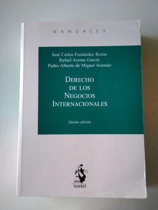 Manual de Derecho de los Negocios Internacionales