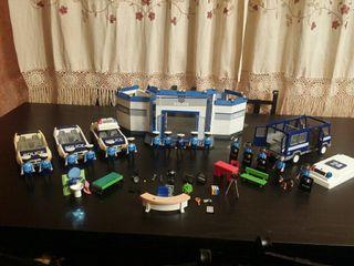 playmobil lote policía y comisaria