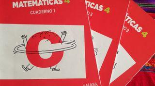 Cuadernillos Matemáticas 4° Primaria Ed. Anaya