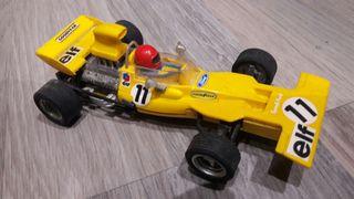 coche scalextric tirrey 4 ruedas exin amarillo
