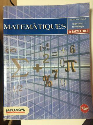 LIBRO MATEMÀTIQUES 1r BATXILLERAT