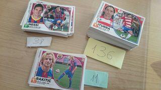 136 Cromos sin repetir Liga BBVA 2014-2015