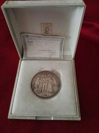 moneda plata 50 francs