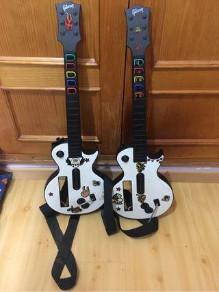 Dos guitarras Wii.
