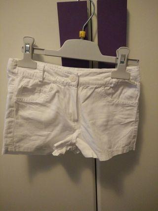 pantalón corto niña talla 4 años