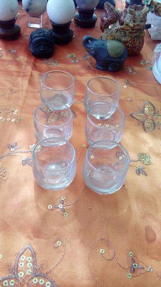 6 Vasos nuevos chupitos cristal
