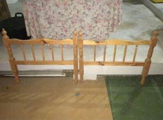 cabecero de cama de 90 de madera