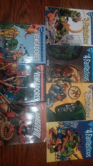 Lote de 7 comics de la Biblioteca Marvel