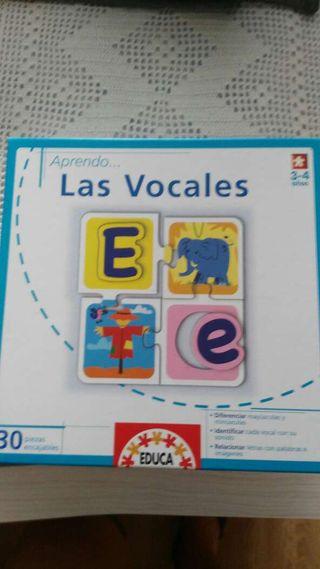 Juego educa aprendo las vocales. 3-4 años