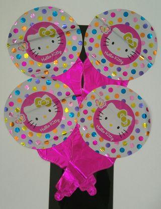 Lote globos Hello Kitty