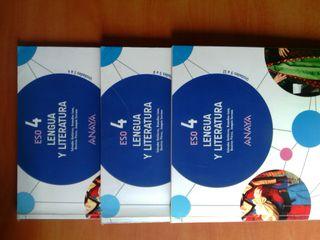 Libro Lengua y Literatura 4ESO editorial Anaya
