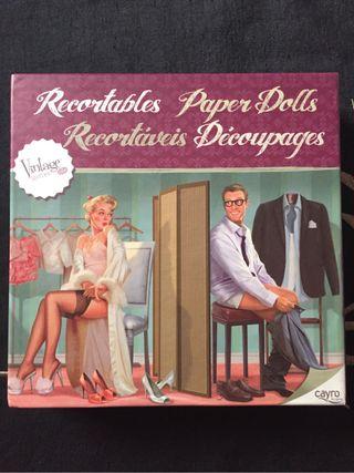 Caja recortable estilo vintage