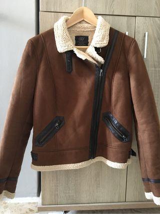 39a36a19c96 Cazadora Cazadora Cazadora Zara Mujer Borrego Borrego Mujer Zara wUgq8