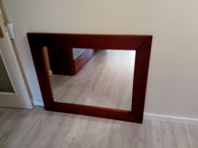 Espejo marco madera de segunda mano por 100 € en Estepona - wallapop