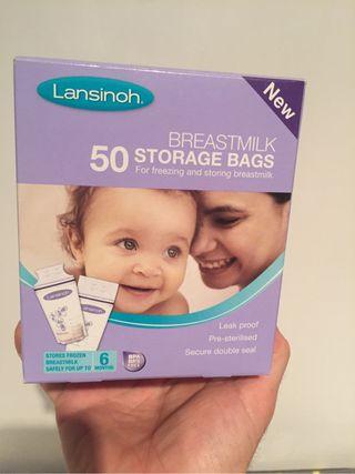 Bolsas leche maternal bebe