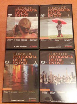 Curso de fotografía en 12 DVDs