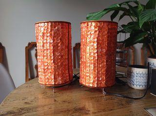 2 lamparas banak naranjas