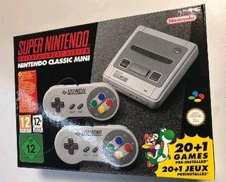 Nintendo snes mini a estrenar