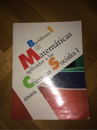 Libro mates CCSS 1 Bach