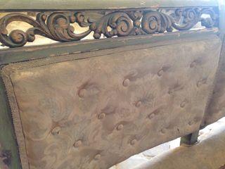 Sofa banco antiguo madera