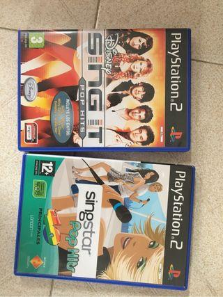Playstation 2 con dos mandos