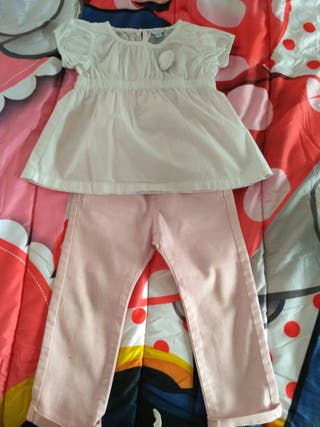 pantalón y camisa niña