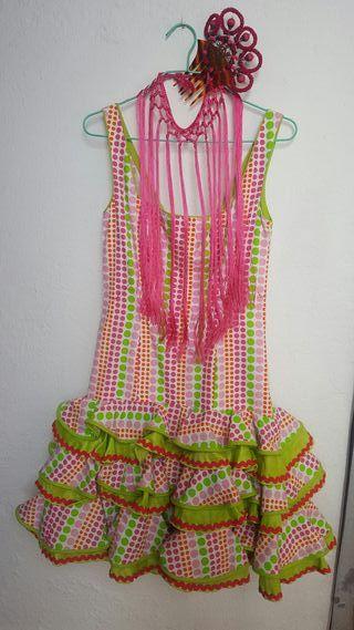 Vestido de gitana/ traje de flamenca