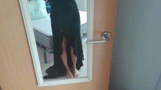 Vestido boda / fiesta PRONOVIAS con cola + bolso