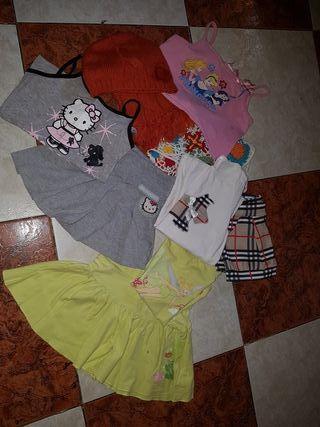 lote d ropa verano niña dos conjuntos